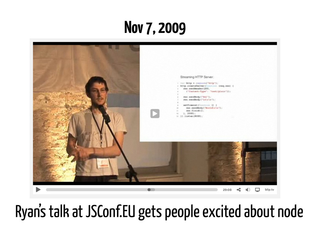 Ryan's talk at JSConf.EU gets people excited ab...