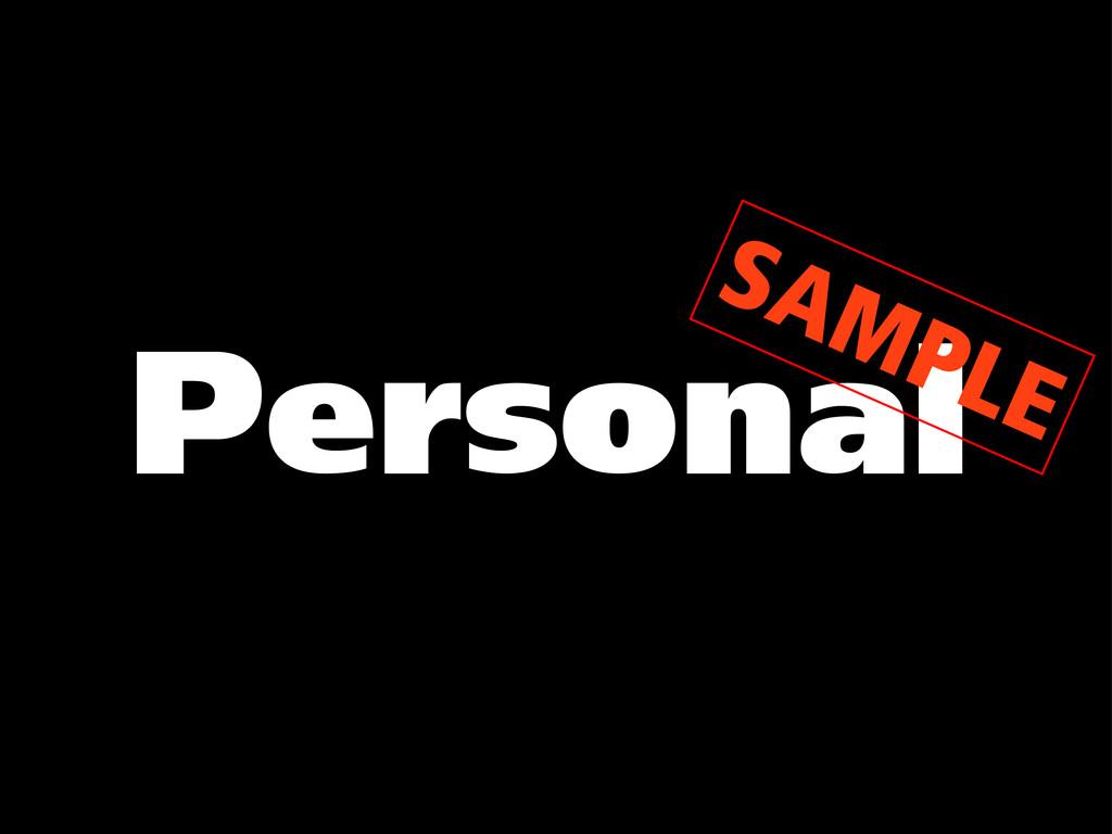 Personal SAMPLE