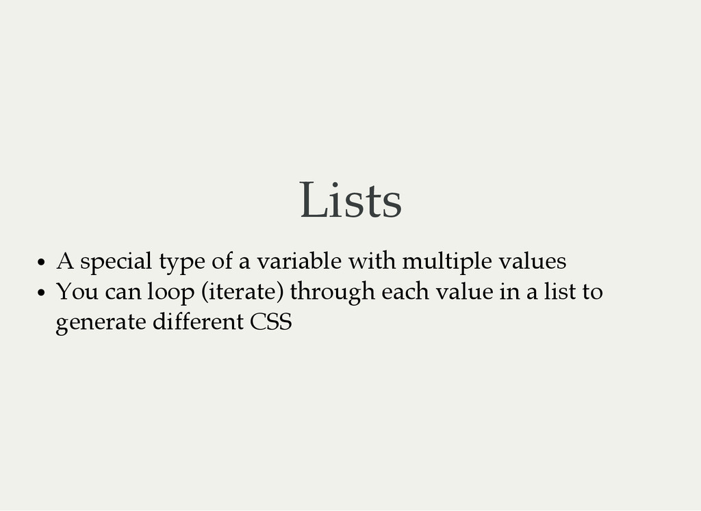 Lists A special type of a variable with multipl...
