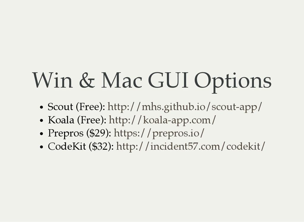 Win & Mac GUI Options Scout (Free): Koala (Free...