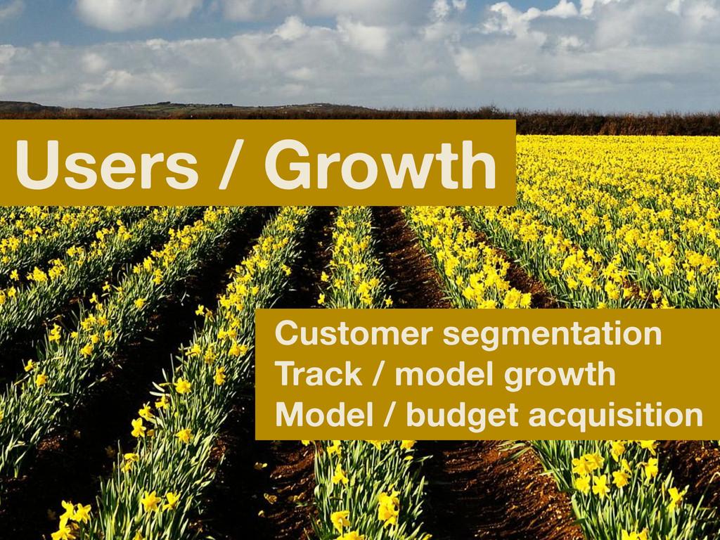 Users / Growth Customer segmentation Track / mo...