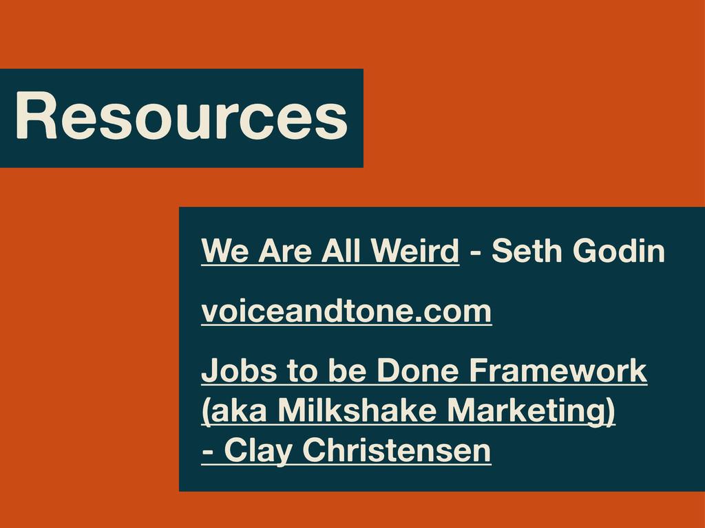 Resources We Are All Weird - Seth Godin voicean...