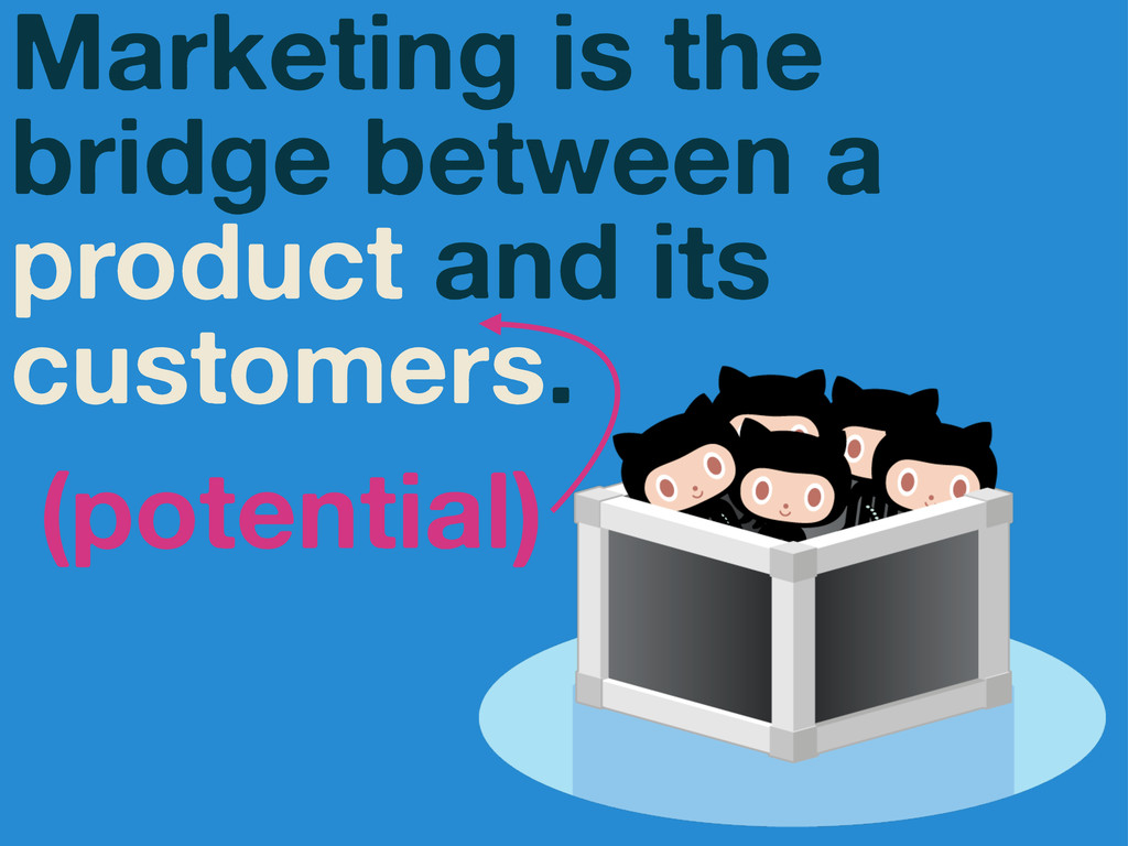 Marketing is the bridge between a product and i...