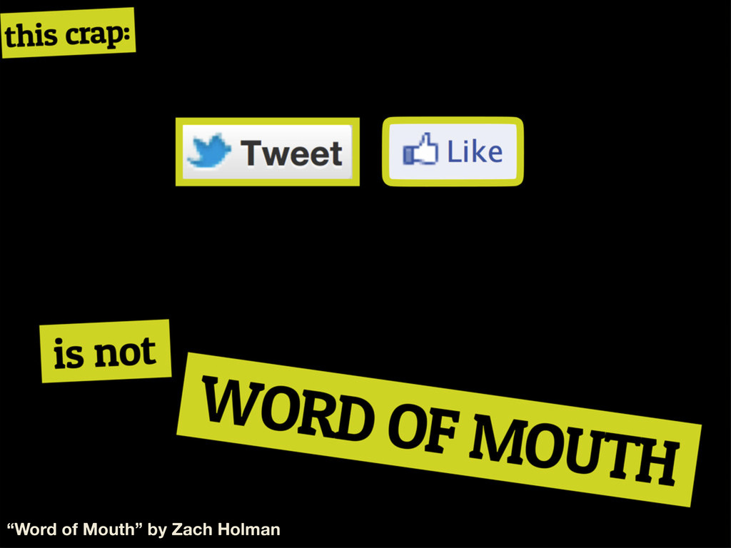 """""""Word of Mouth"""" by Zach Holman"""