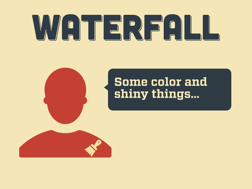 Some color and shiny things… WATERFALL WATERFAL...