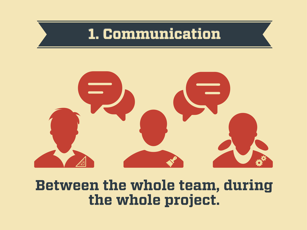 1. Communication Between the whole team, during...