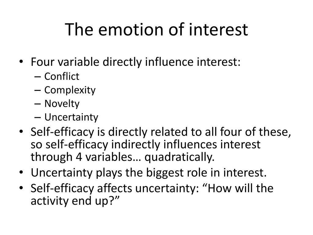 The emotion of interest • Four variable directl...