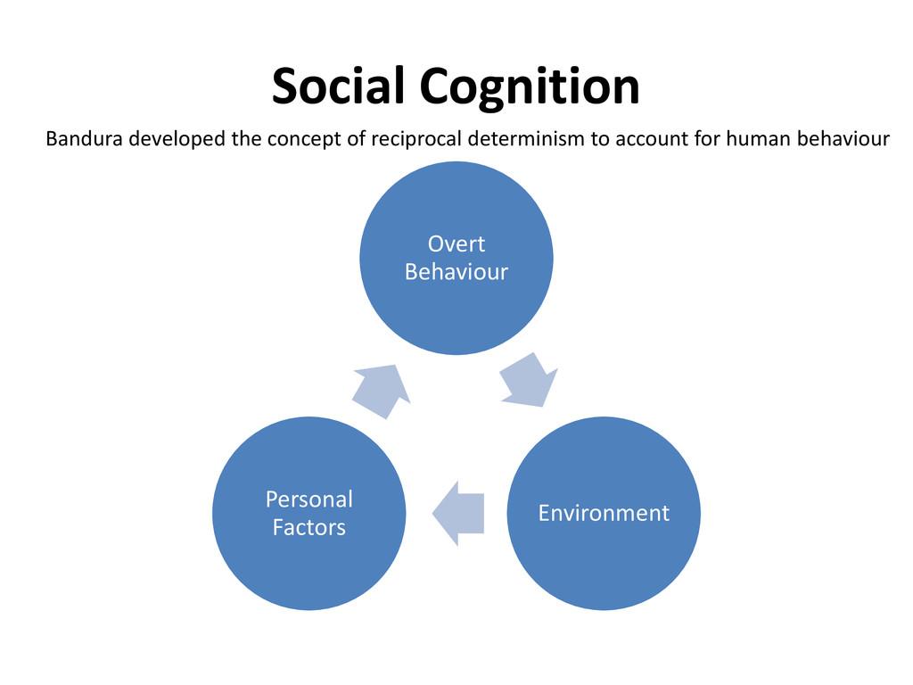 Social Cognition Overt Behaviour Environment Pe...