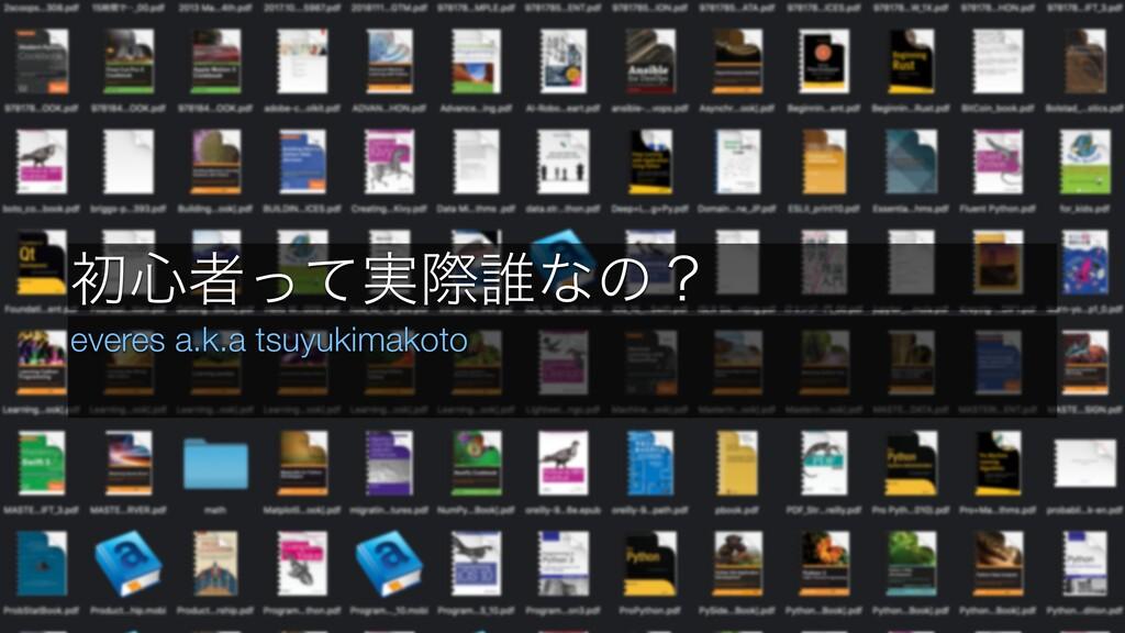 ॳ৺ऀ࣮ͬͯࡍ୭ͳͷʁ everes a.k.a tsuyukimakoto