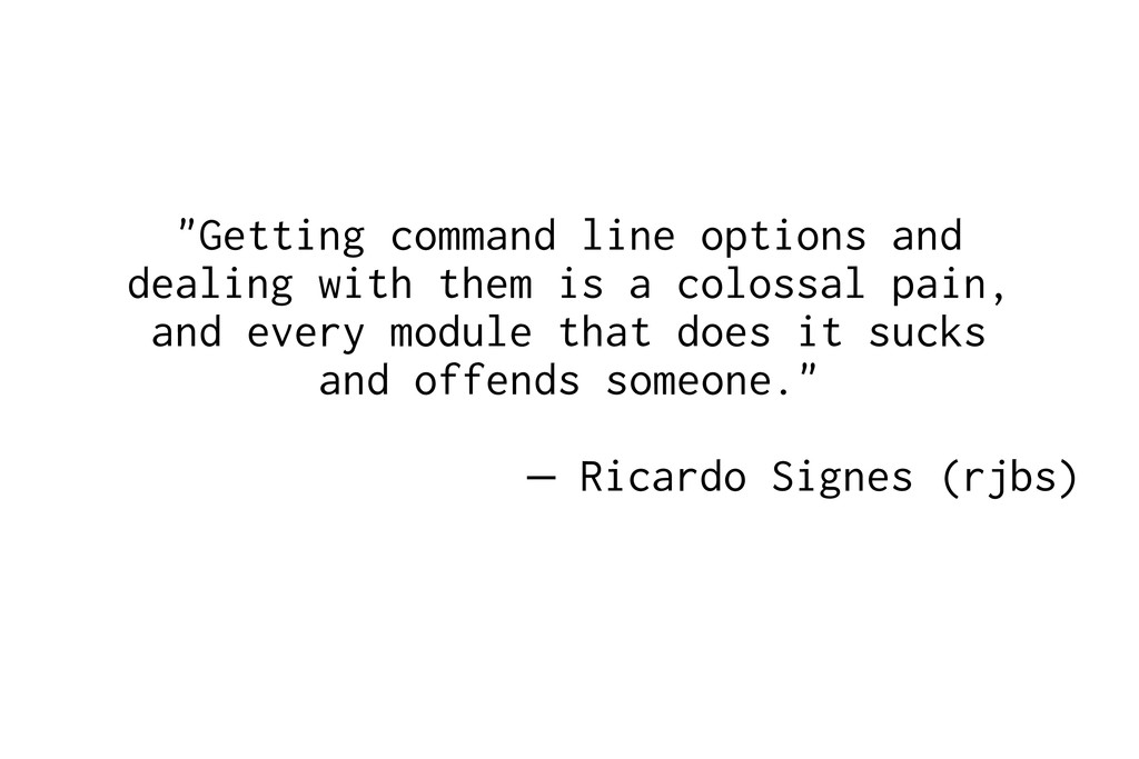 """""""Getting command line options and dealing with ..."""