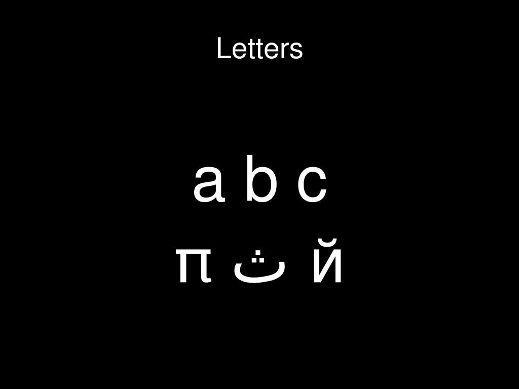 a b c π ث й Letters