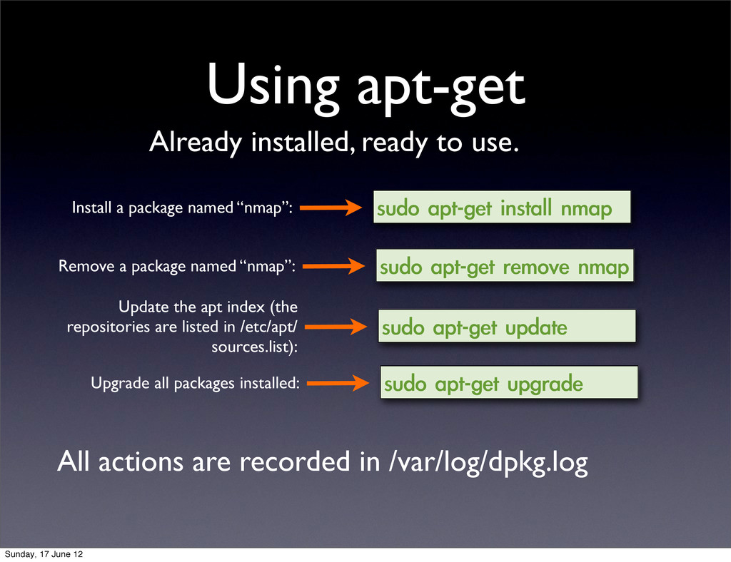 Using apt-get sudo	 apt-get	 install	 nmap Inst...