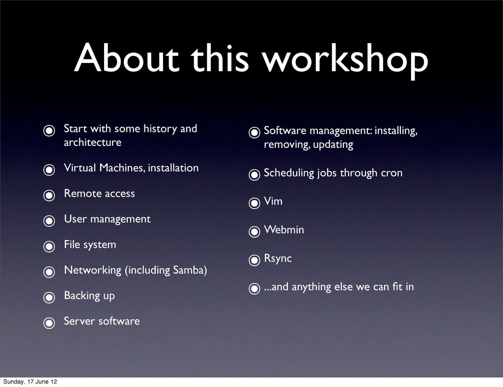 About this workshop ๏ Start with some history a...