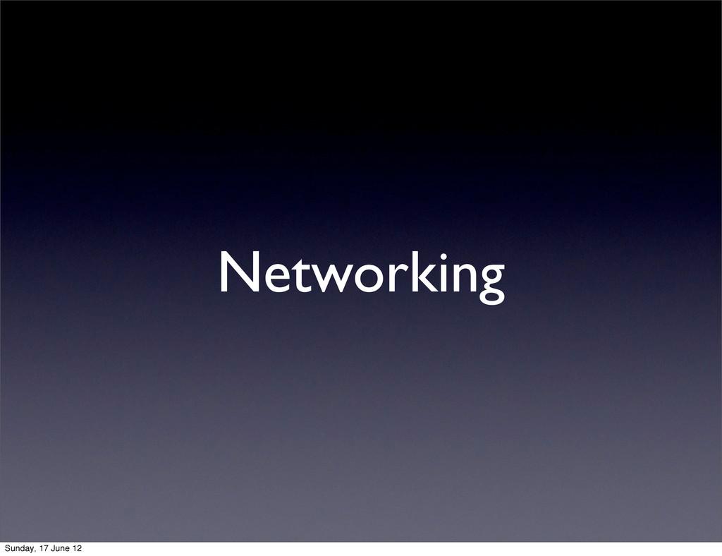Networking Sunday, 17 June 12