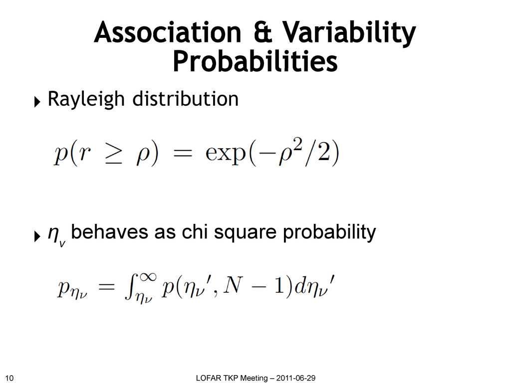 Association & Variability Probabilities ▸ Rayle...