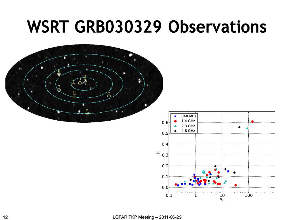 WSRT GRB030329 Observations 12 LOFAR TKP Meetin...