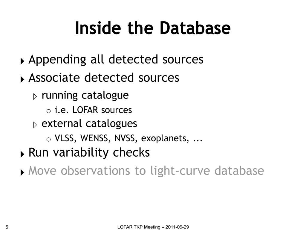 Inside the Database ▸ Appending all detected so...