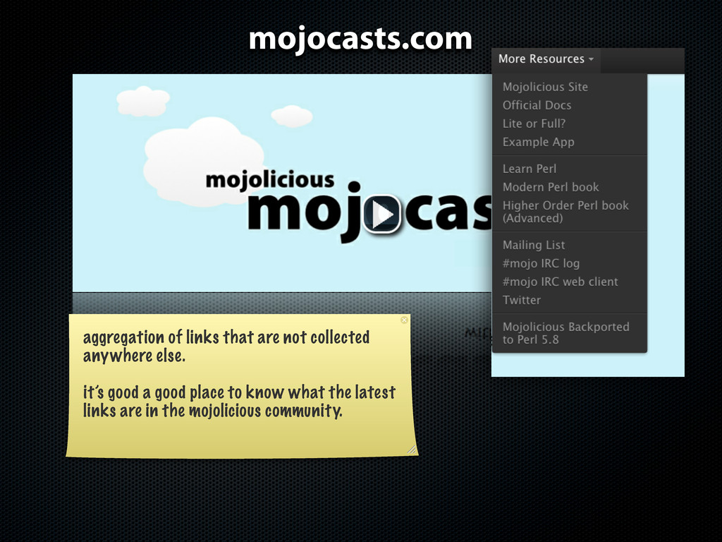 mojocasts.com aggregation of links that are not...