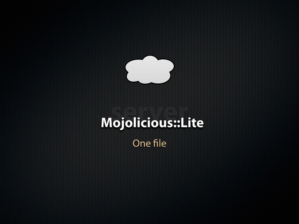 server Mojolicious::Lite One le