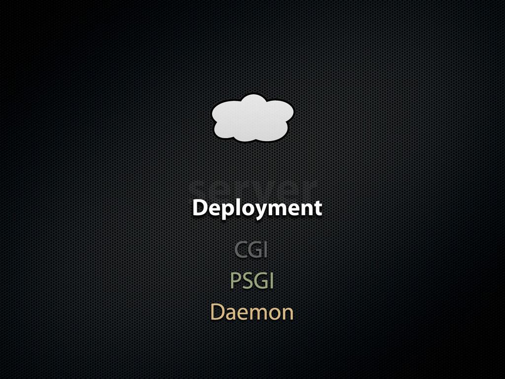 server Deployment PSGI CGI Daemon