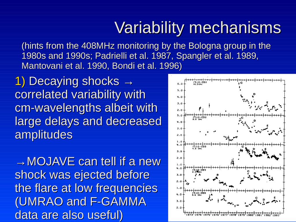 Variability mechanisms Variability mechanisms (...