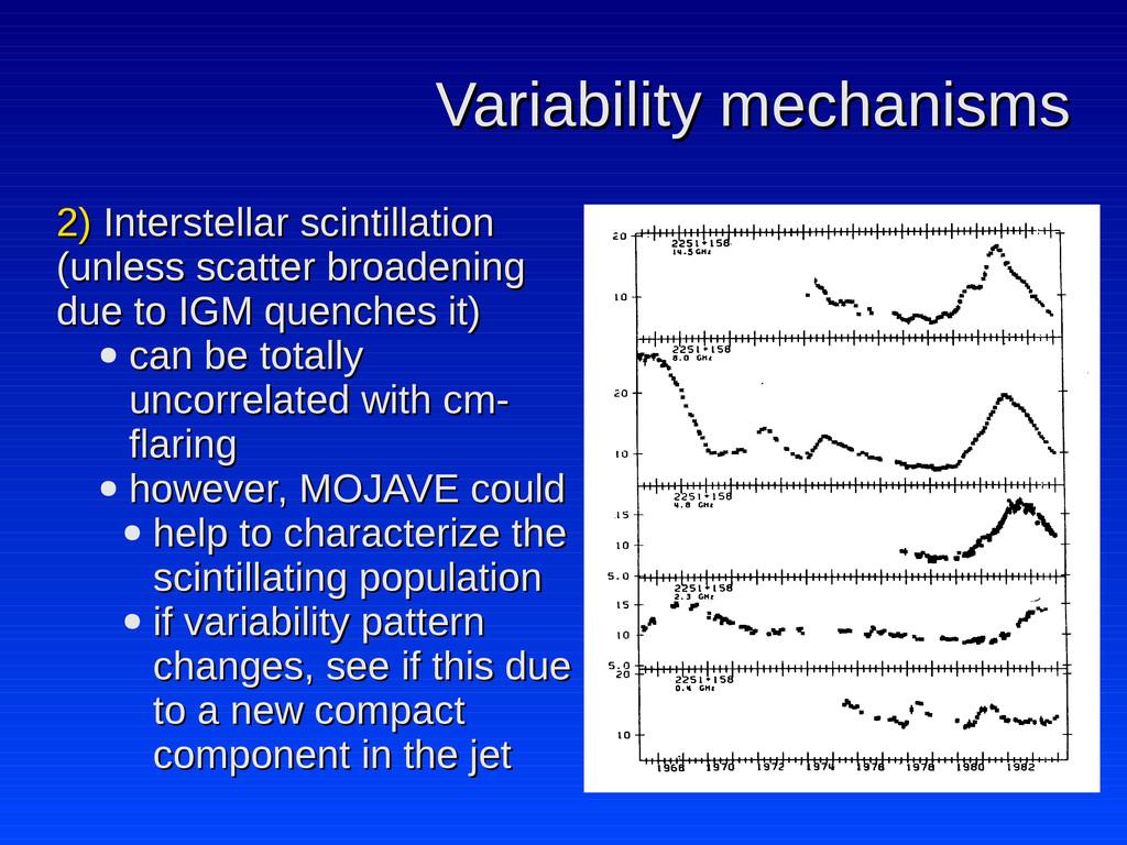 Variability mechanisms Variability mechanisms 2...