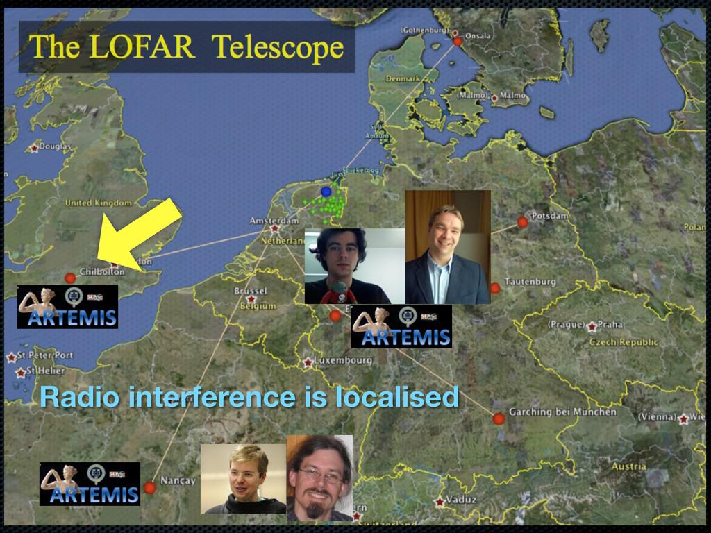 Radio interference is localised