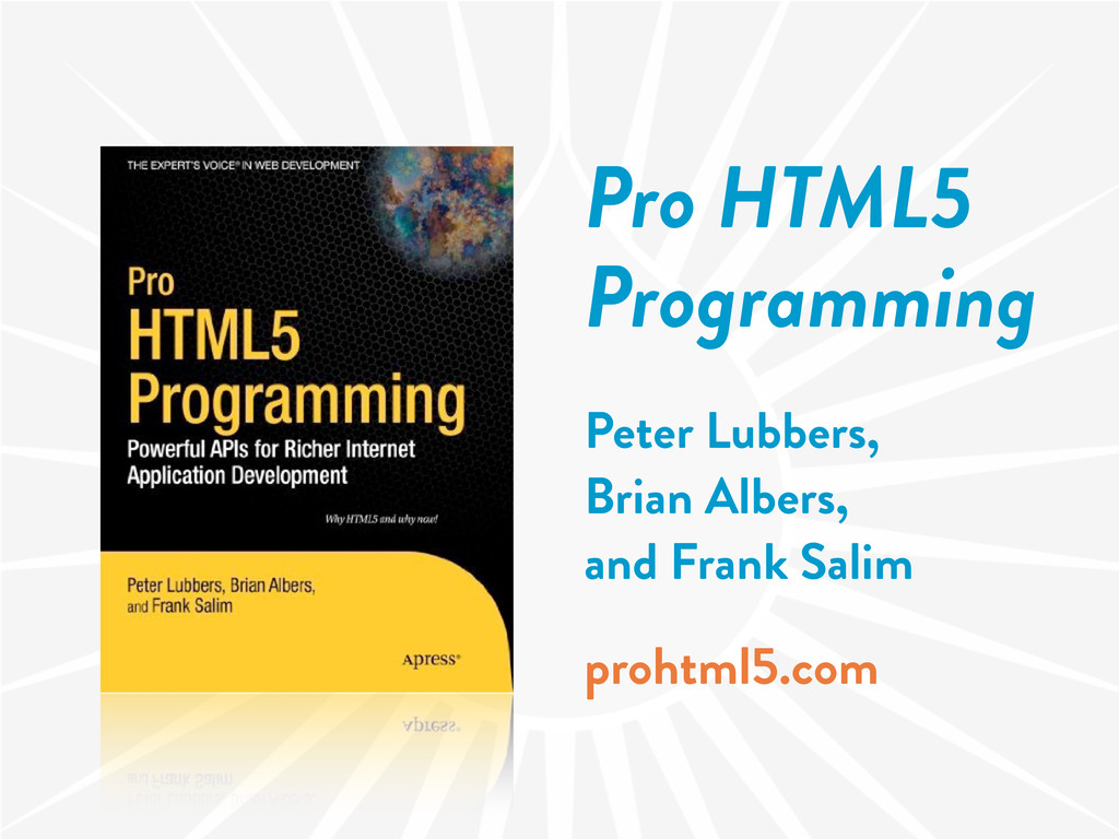 Pro HTML5 Programming Peter Lubbers, Brian Albe...