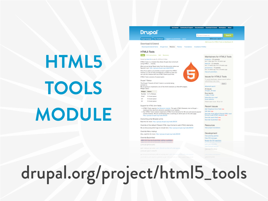HTML5 TOOLS MODULE drupal.org/project/html5_too...