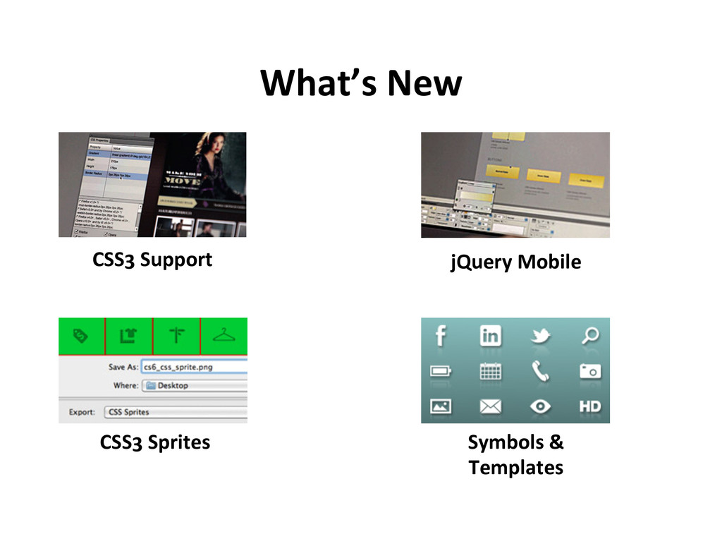 What's  New   CSS3  Support   CSS3  Sprites   j...