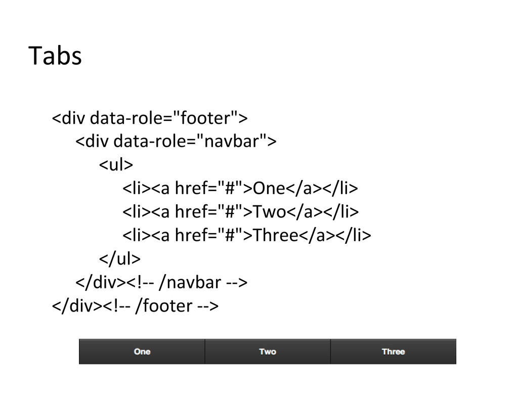 Tabs	