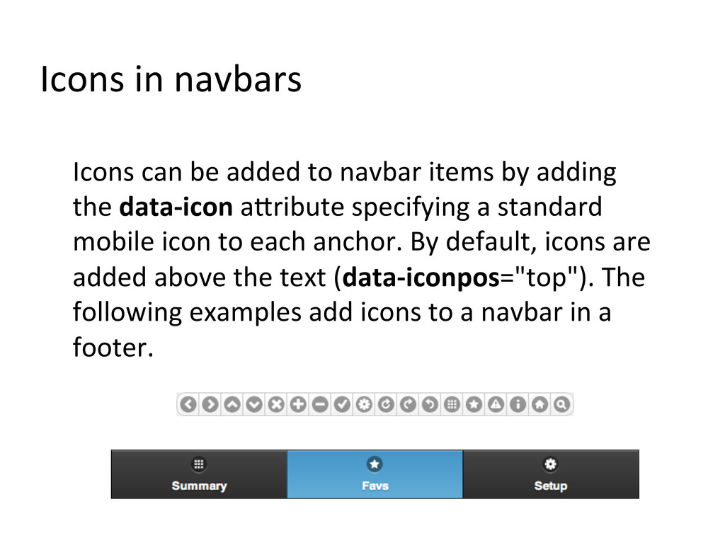 Icons in navbars  Icons can be...