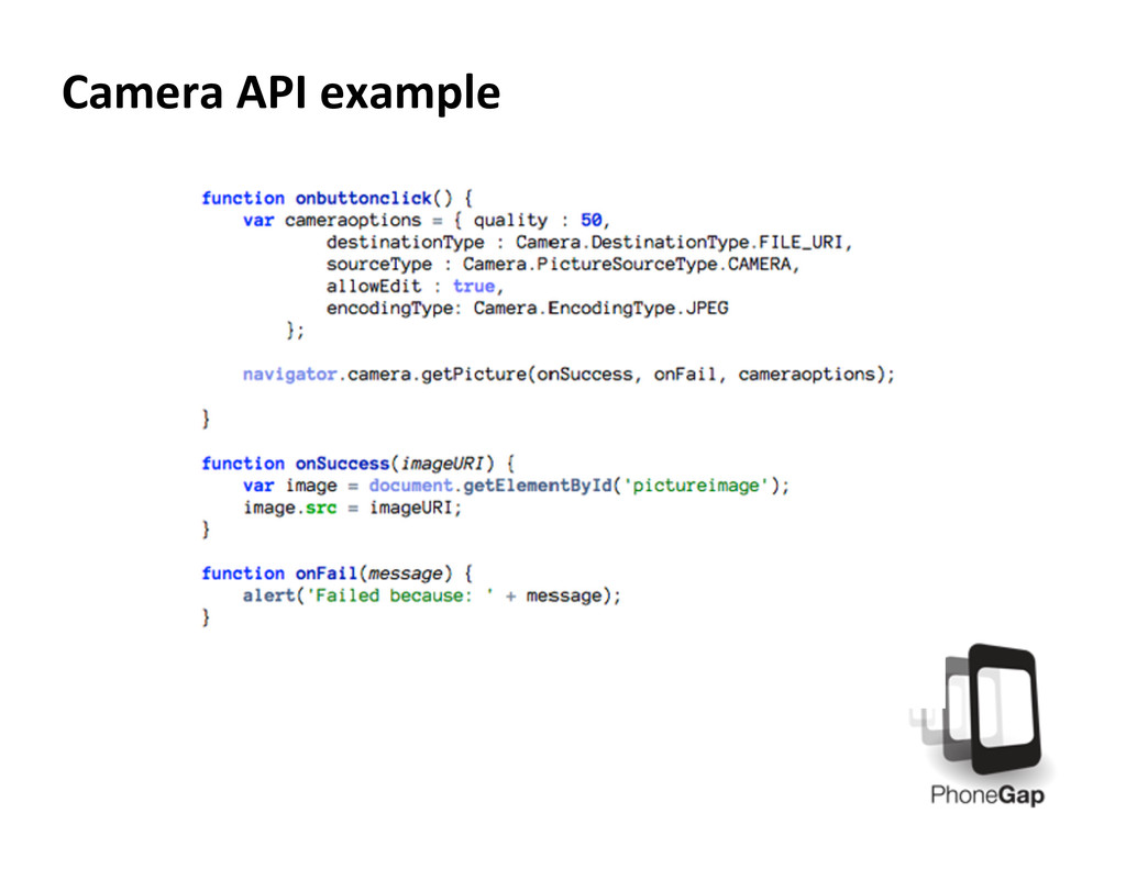 Camera API example
