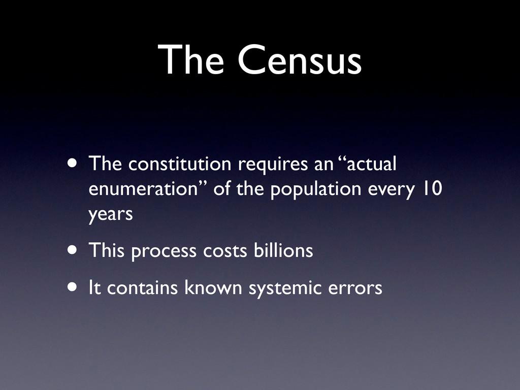 "The Census • The constitution requires an ""actu..."