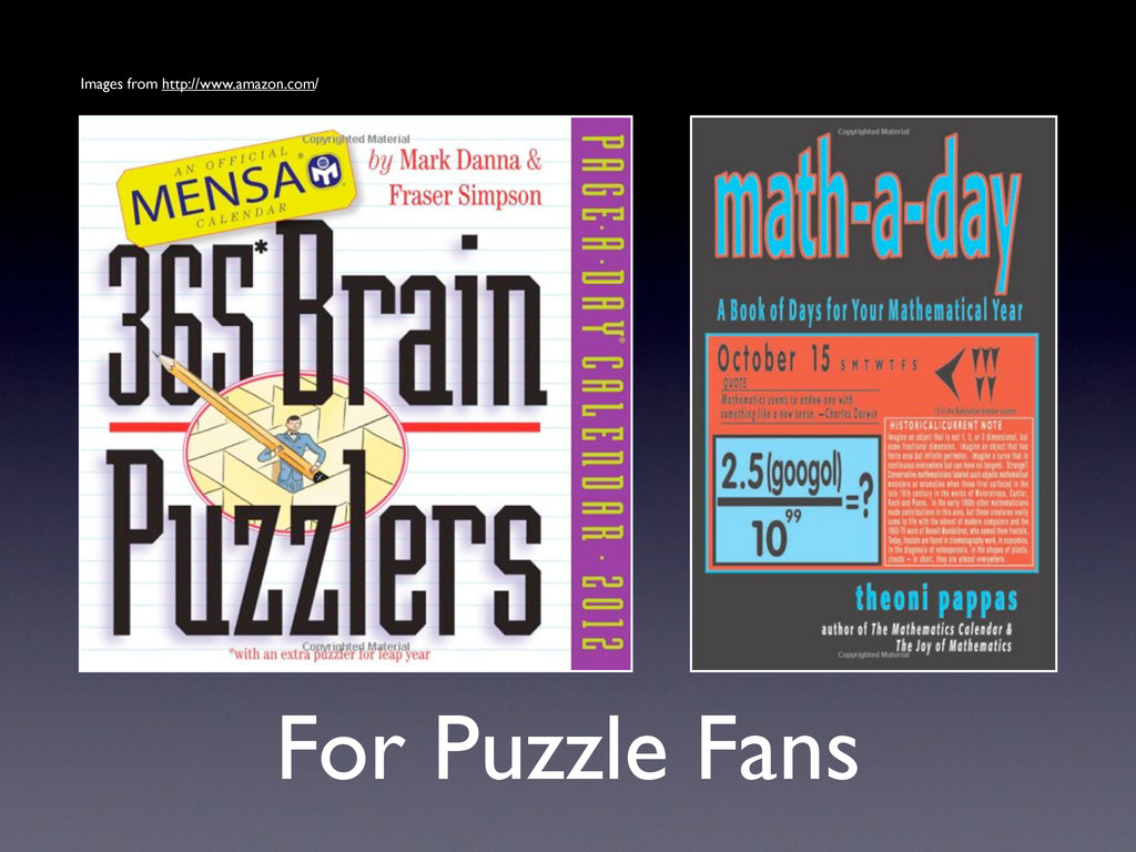 For Puzzle Fans Images from http://www.amazon.c...