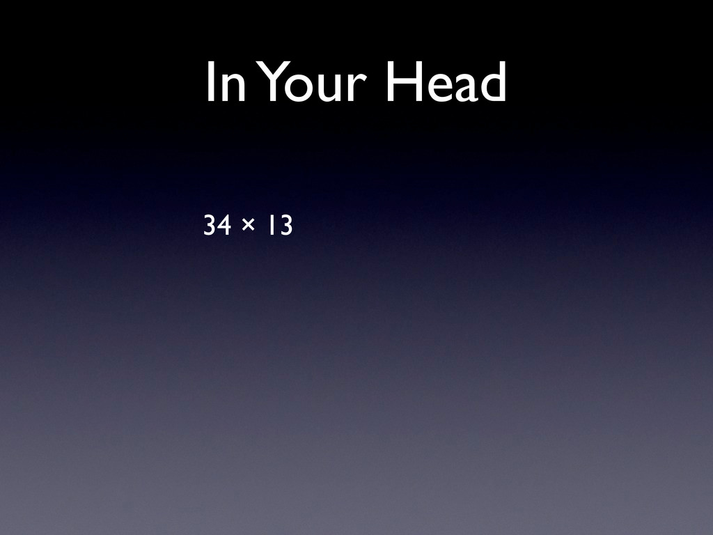 In Your Head 34 × 13