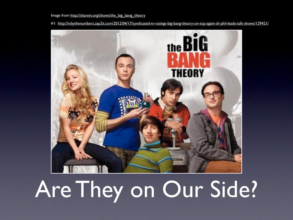 Are They on Our Side? Image from http://sharetv...