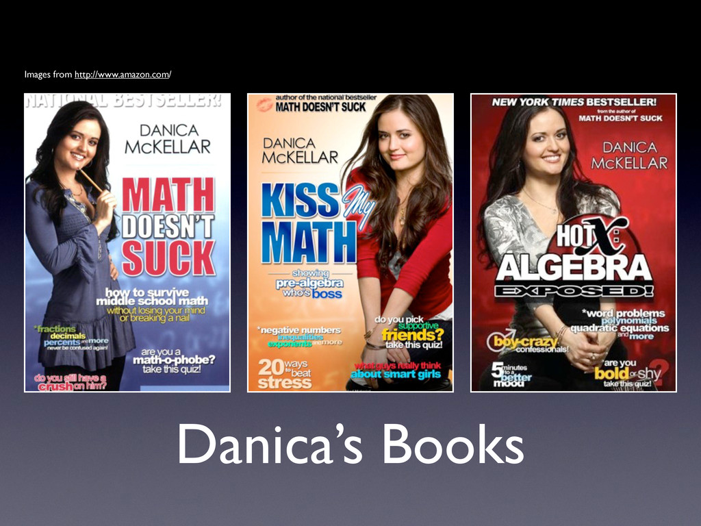 Danica's Books Images from http://www.amazon.co...