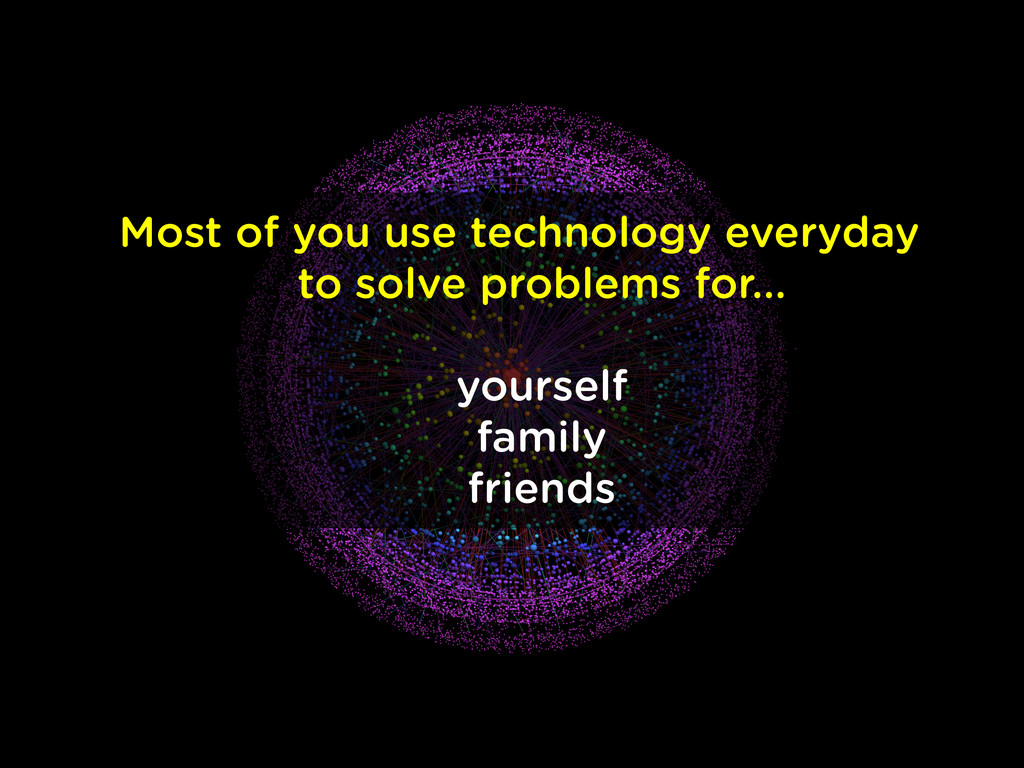 Most of you use technology everyday to solve p...