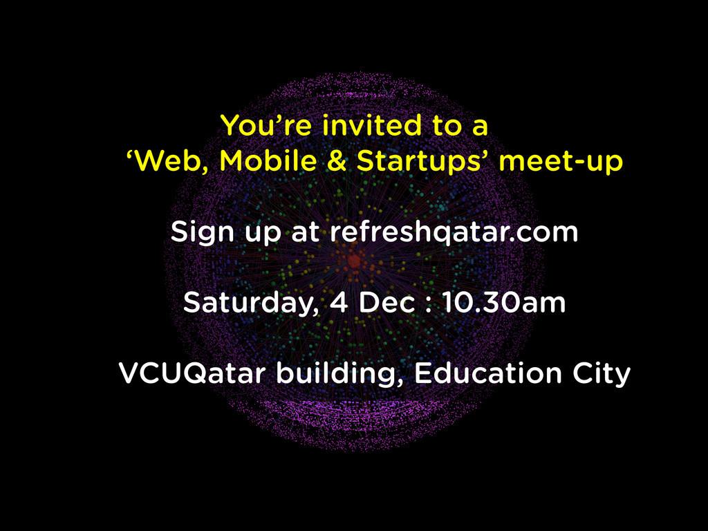 You're invited to a 'Web, Mobile & Startups' me...