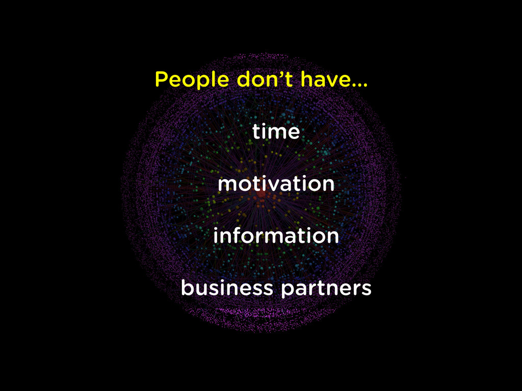 People don't have… time motivation information ...