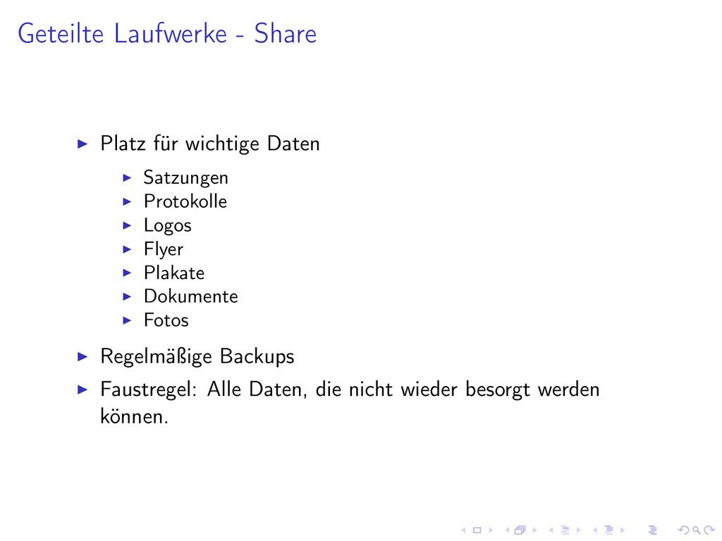 Geteilte Laufwerke - Share Platz für wichtige D...
