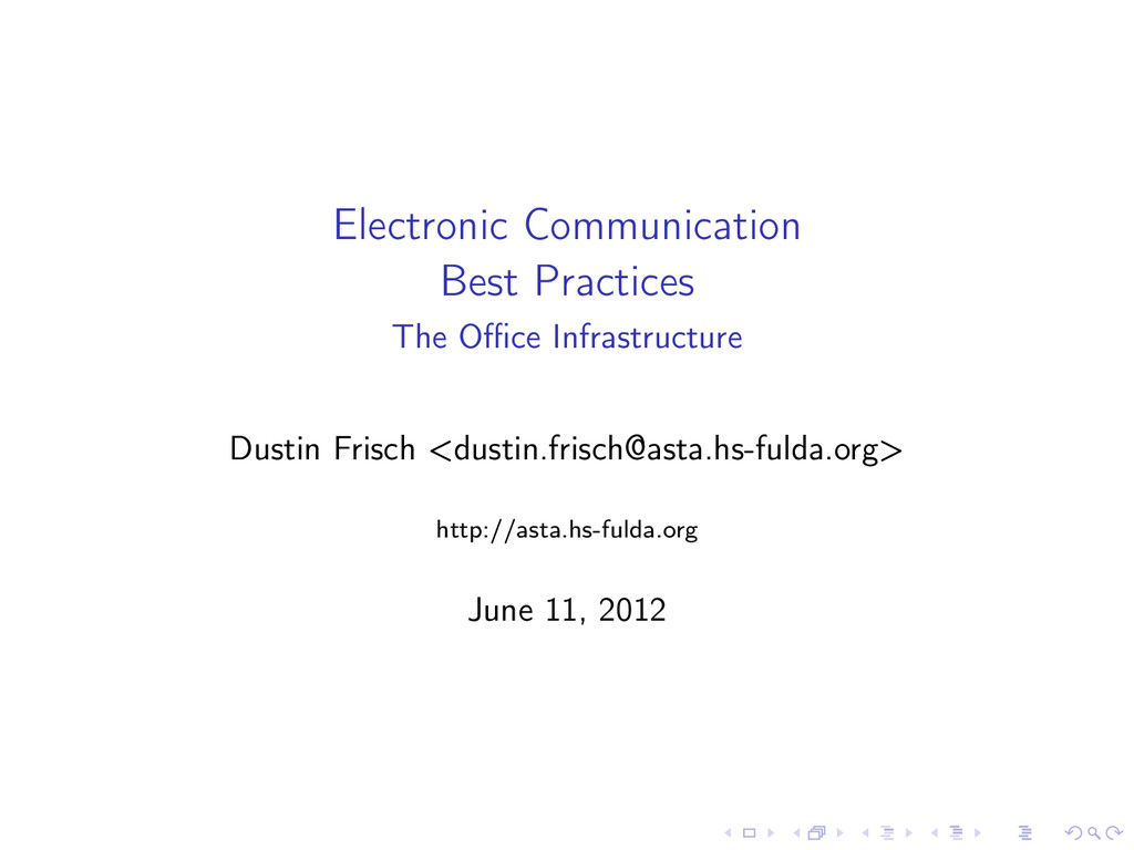 Electronic Communication Best Practices The Offic...