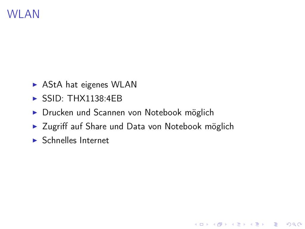 WLAN AStA hat eigenes WLAN SSID: THX1138:4EB Dr...