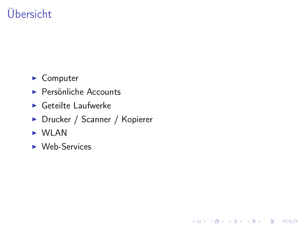 Übersicht Computer Persönliche Accounts Geteilt...