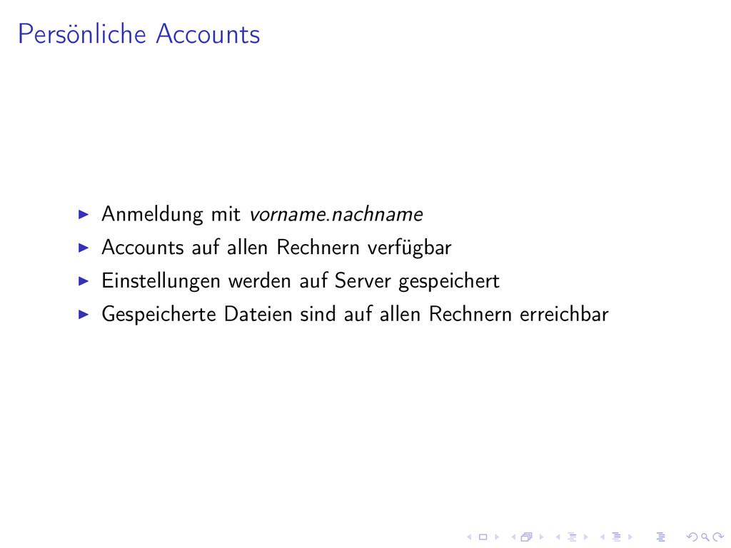 Persönliche Accounts Anmeldung mit vorname.nach...