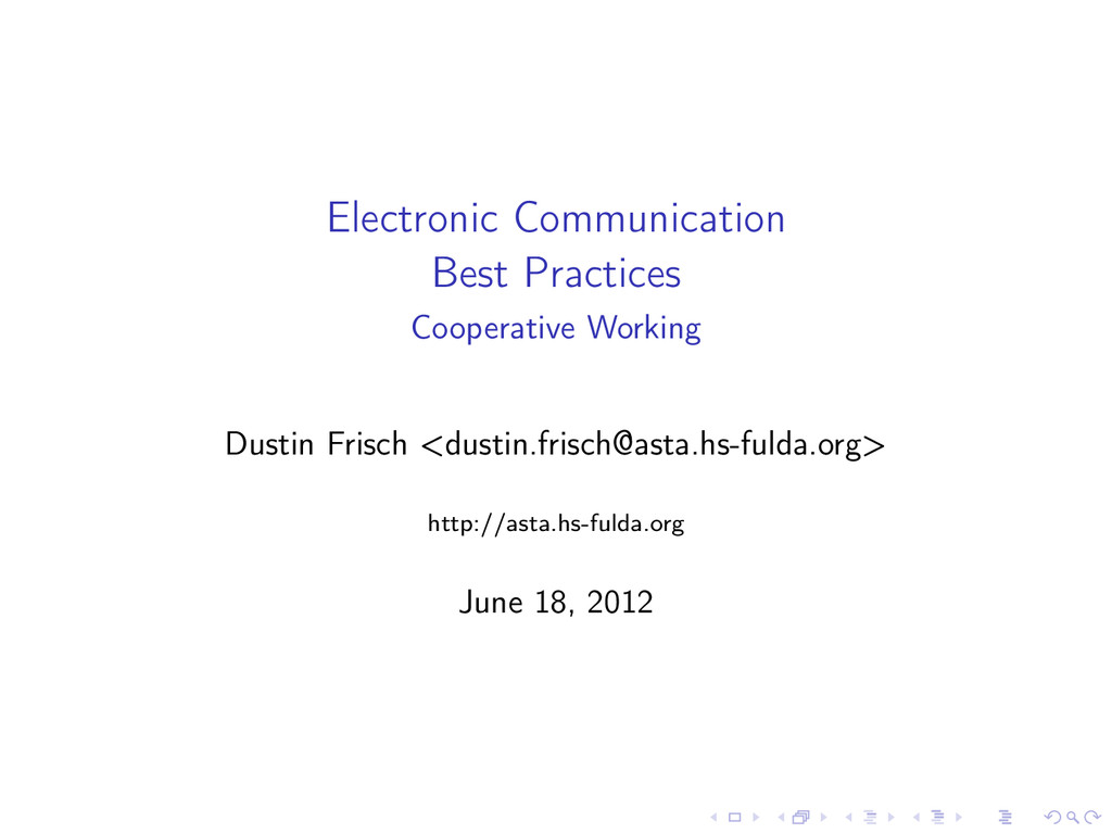 Electronic Communication Best Practices Coopera...