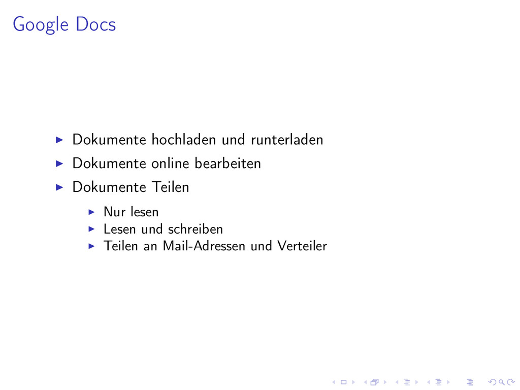 Google Docs Dokumente hochladen und runterladen...