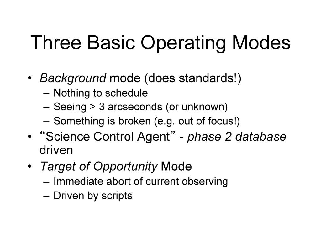 Three Basic Operating Modes • Background mode ...