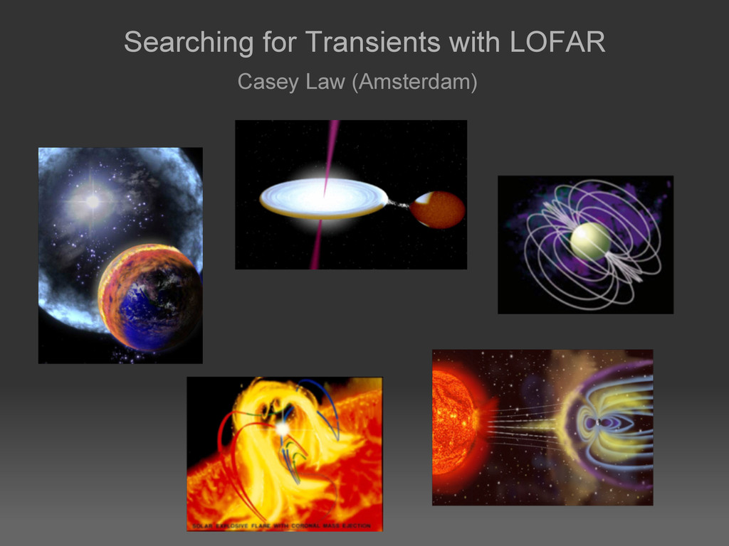 Searching for Transients with LOFAR Casey Law (...